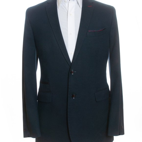 Ted Baker Navy Blue Stretch Bayvil Blazer 40R